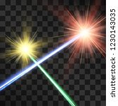 crossed laser beams light... | Shutterstock .eps vector #1230143035