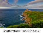 brittany in france and latte... | Shutterstock . vector #1230145312