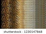 leopard pattern  silk scarf...   Shutterstock . vector #1230147868