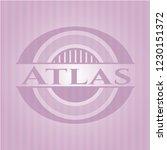 atlas pink emblem. retro   Shutterstock .eps vector #1230151372