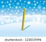 Snow Depth Measure In Winter...