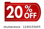 special offer 20   off banner... | Shutterstock .eps vector #1230155695
