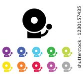 an illustrated icon in an array ... | Shutterstock .eps vector #1230157435