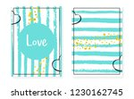 bridal shower card with dots... | Shutterstock .eps vector #1230162745