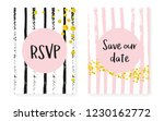 bridal shower set with dots and ... | Shutterstock .eps vector #1230162772