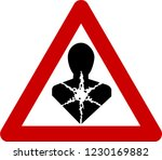 warning sign with carcinogenic... | Shutterstock . vector #1230169882