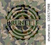 brunette on camo pattern | Shutterstock .eps vector #1230171988