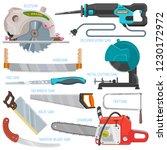 saw vector sawing equipment... | Shutterstock .eps vector #1230172972