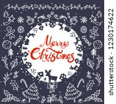 merry christmas and happy new... | Shutterstock .eps vector #1230174622