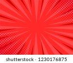 retro comic pop art red... | Shutterstock .eps vector #1230176875