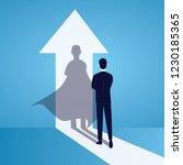 vector illustration. business... | Shutterstock .eps vector #1230185365
