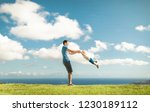 father son having fun playing... | Shutterstock . vector #1230189112