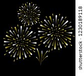 gold and bright firework on...   Shutterstock .eps vector #1230189118