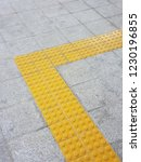 tactile paving for blind people | Shutterstock . vector #1230196855