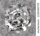 offspring on grey camo texture | Shutterstock .eps vector #1230200755
