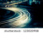 the light trails on the steet... | Shutterstock . vector #123020908