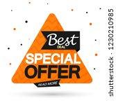 special offer  sale banner... | Shutterstock .eps vector #1230210985