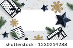 christmas background in trendy... | Shutterstock .eps vector #1230214288