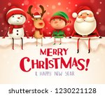 merry christmas  happy... | Shutterstock .eps vector #1230221128