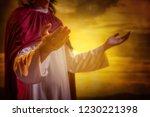 Jesus Christ Raising Hands And...