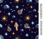 pixel seamless background of... | Shutterstock .eps vector #1230224758
