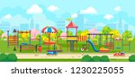 vector design with playground... | Shutterstock .eps vector #1230225055