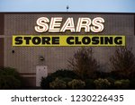 outdoor signage of sears store... | Shutterstock . vector #1230226435