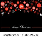 vintage red  pink and silver... | Shutterstock .eps vector #1230226942