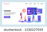 vector web site design template.... | Shutterstock .eps vector #1230227035