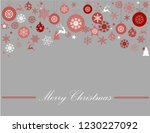 vintage red  pink and silver... | Shutterstock .eps vector #1230227092