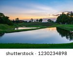 Dusk Scenery Of Golf Course...