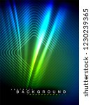 neon glowing wave  magic energy ... | Shutterstock .eps vector #1230239365
