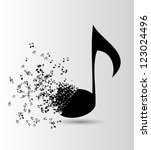 Abstract Music Background...