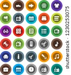 white solid icon set  ladle... | Shutterstock .eps vector #1230253075