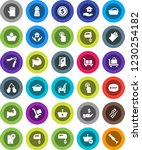 white solid icon set  soap... | Shutterstock .eps vector #1230254182