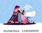 teenage boy skater broken leg... | Shutterstock .eps vector #1230260035