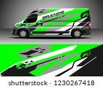 cargo van decal  truck and car... | Shutterstock .eps vector #1230267418
