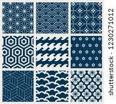 japanese inspired pattern... | Shutterstock .eps vector #1230271012