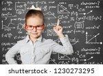 cute little schoolgirl in... | Shutterstock . vector #1230273295