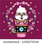 cute cat happy vector animal... | Shutterstock .eps vector #1230275518