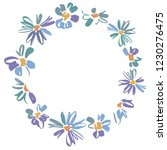 vector floral wreath with... | Shutterstock .eps vector #1230276475