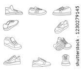 shoes set line art icon vector... | Shutterstock .eps vector #1230279145