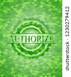 authorize green emblem with... | Shutterstock .eps vector #1230279412