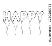 happy balloons air celebration... | Shutterstock .eps vector #1230280798