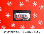 audio cassette tape with... | Shutterstock . vector #1230284152
