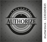 authorize dark icon or emblem | Shutterstock .eps vector #1230285835