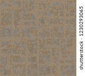 rusty seamless pattern. angular ... | Shutterstock .eps vector #1230293065