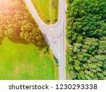 aerial view of highway in city. ... | Shutterstock . vector #1230293338
