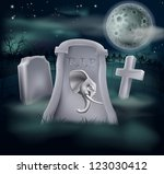 Death of Republican Party concept of tombstone with Republican symbol of Elephant on a grave marker (Democrat version also available) - stock photo