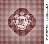 social network icon inside red... | Shutterstock .eps vector #1230306325